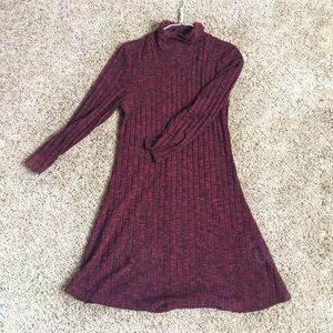 American Eagle Burgundy Turtleneck Dress